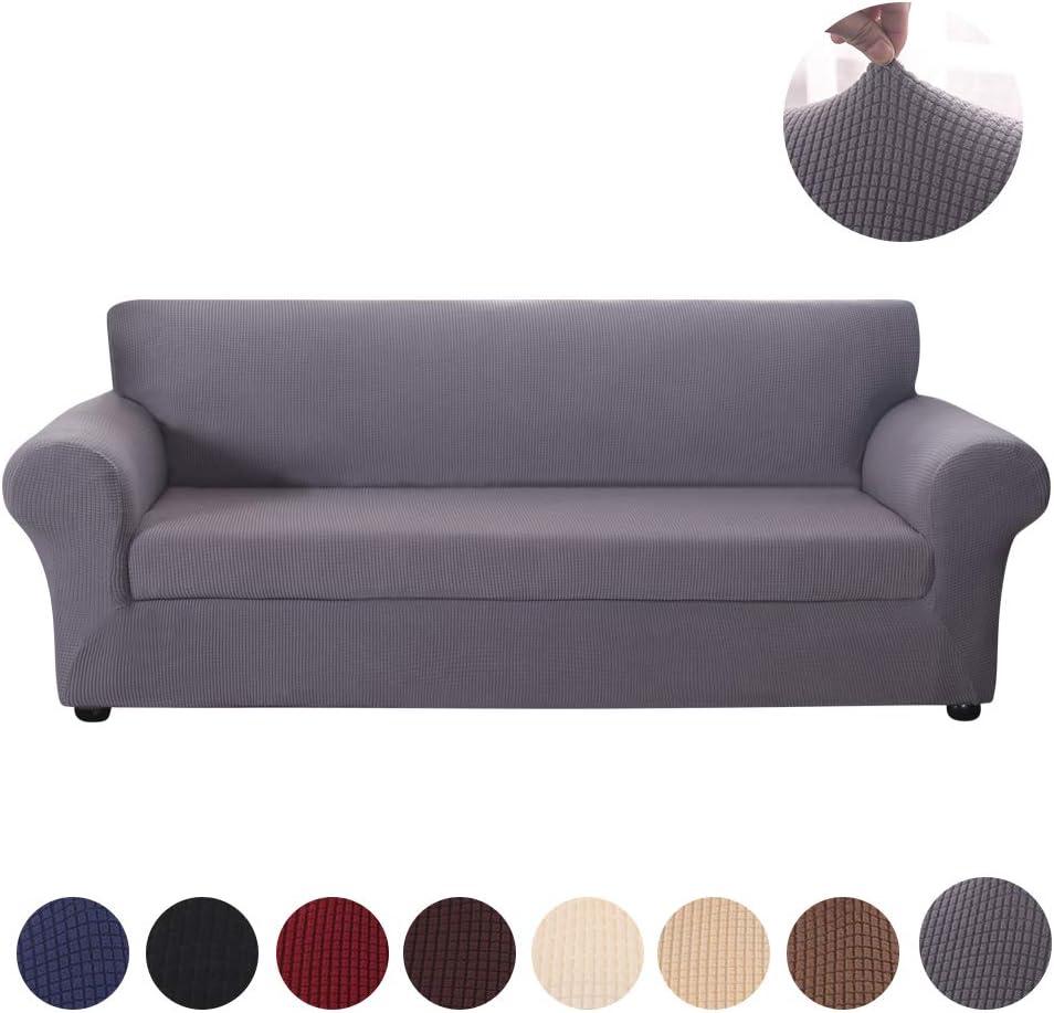 HIFUAR Funda sofá Duplex, Tejido Jacquard de Poliéster Funda para Sofá Elástica Cubre Sofa Universal Cubierta de Muebles contra Mascotas Polvo, Desmontable y Lavable,Funda Protector para Sofá