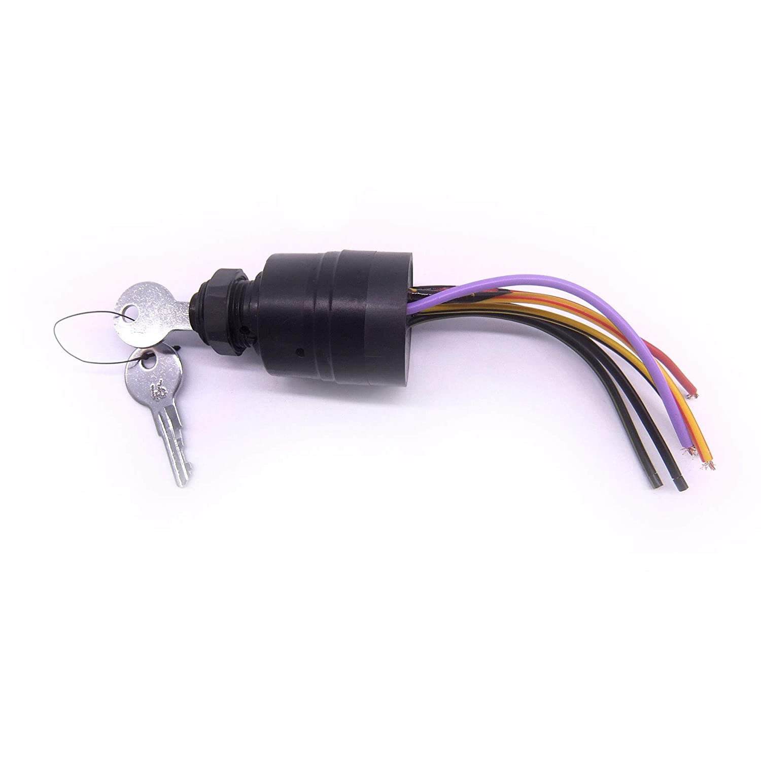 Boat Engine 87-17009A2 Ignition Switch for Mercury Outboard Motor Control Box, 3 Position, 6 Wire, Sierra MP41070-2