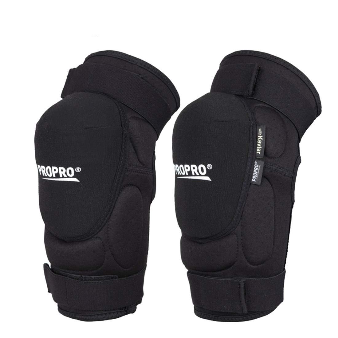 Magaa スポーツ膝パッド肘パッド 通気性耐摩耗登山ギア オフロードバイク乗り馬具 (Color : ブラック, サイズ : M) ブラック M