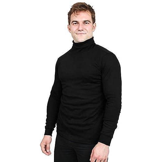 Utopia Wear Premium Cotton Blend Interlock Turtleneck Men T Shirt