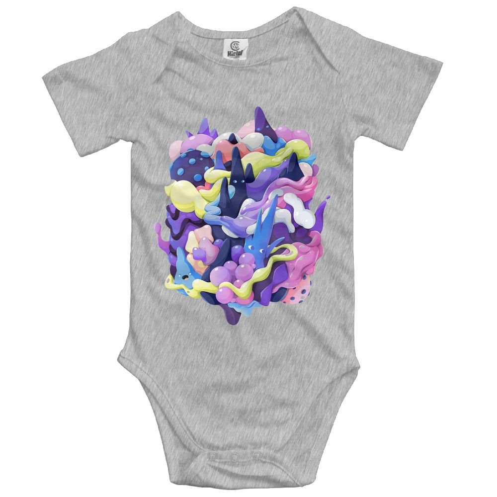 Baby Bodysuit Creative Stereo Splash Ink Cute Short Sleeves Triangle Romper Bodysuit Outfits Infant Toddler Clothes For Boy Girl