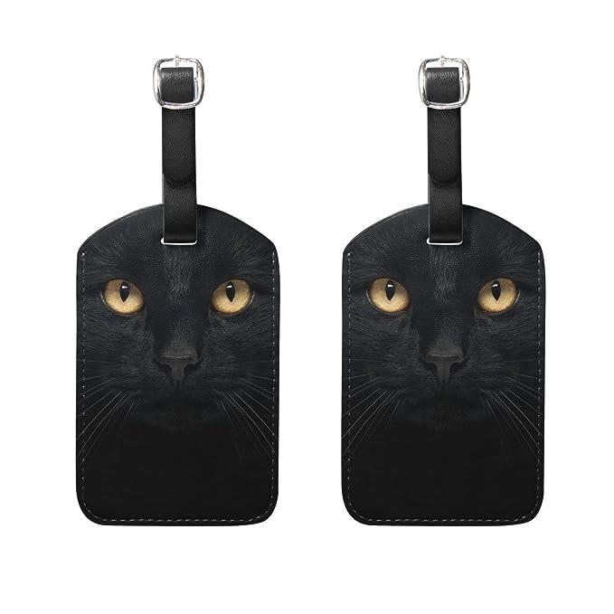 COOSUN Negro Equipaje del Gato Etiquetas Viaje Etiquetas ...