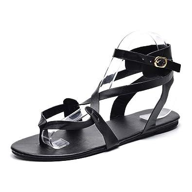 b8d51c76fdf Sandales de Dame Les Sandalettes l été Femme honestyi Summer Femmes Chers  Cross Sangle Flat
