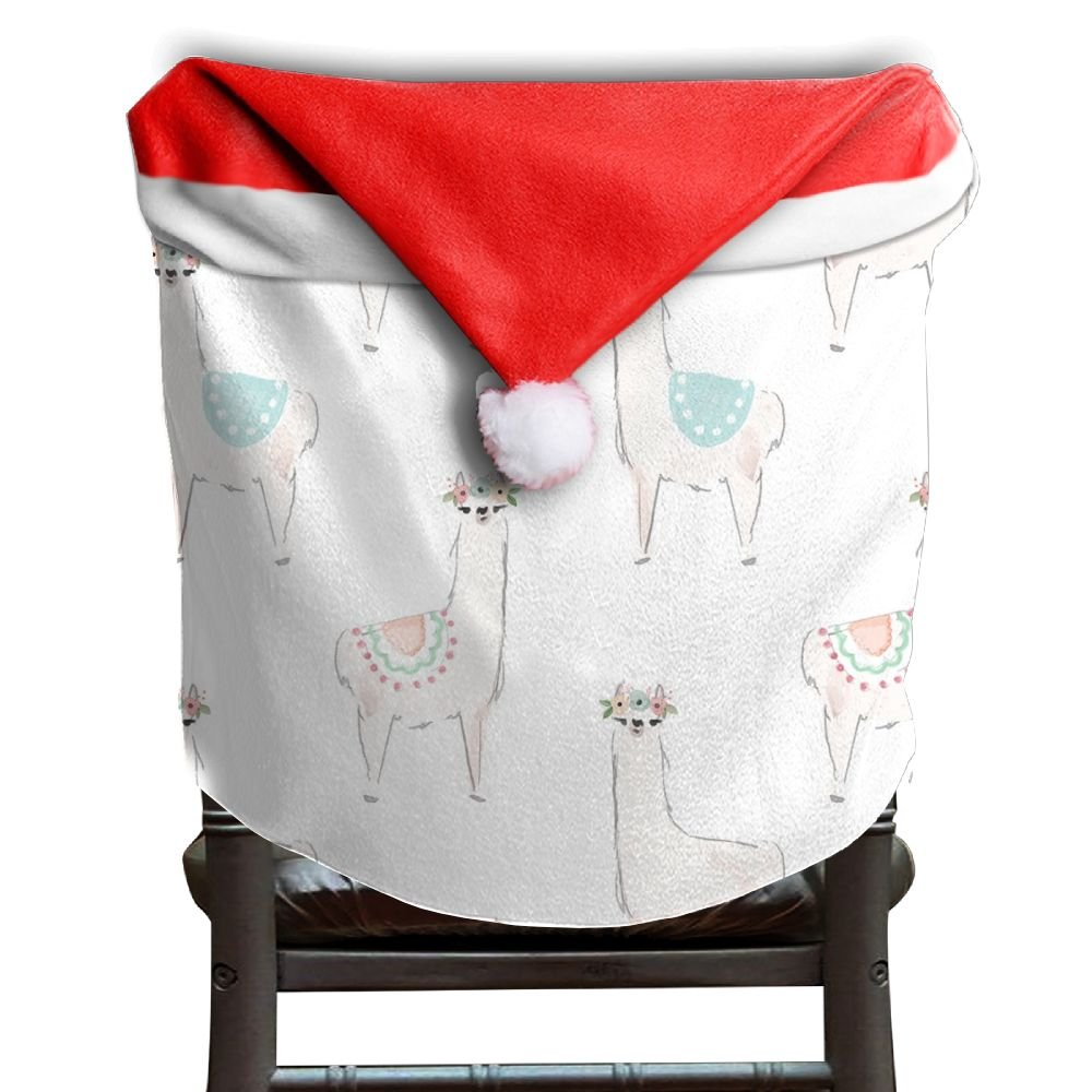 Llama Animal Christmas Chair Covers Antique Easy To Carry Chair Covers For Christmas For Men And Women Chair Back Covers Holiday Festive