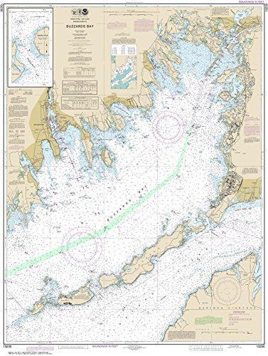 MapHouse NOAA Chart 13230 Buzzards Bay; Quicks Hole: 45.42