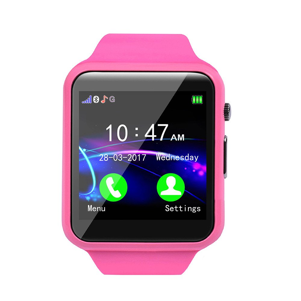 Kid Smart Watch Phone for Girls Boys with GPS Tracker IP67 Waterproof Fitness Watch Best Gift for Children (Pink) by OVERMAL_Watches (Image #2)