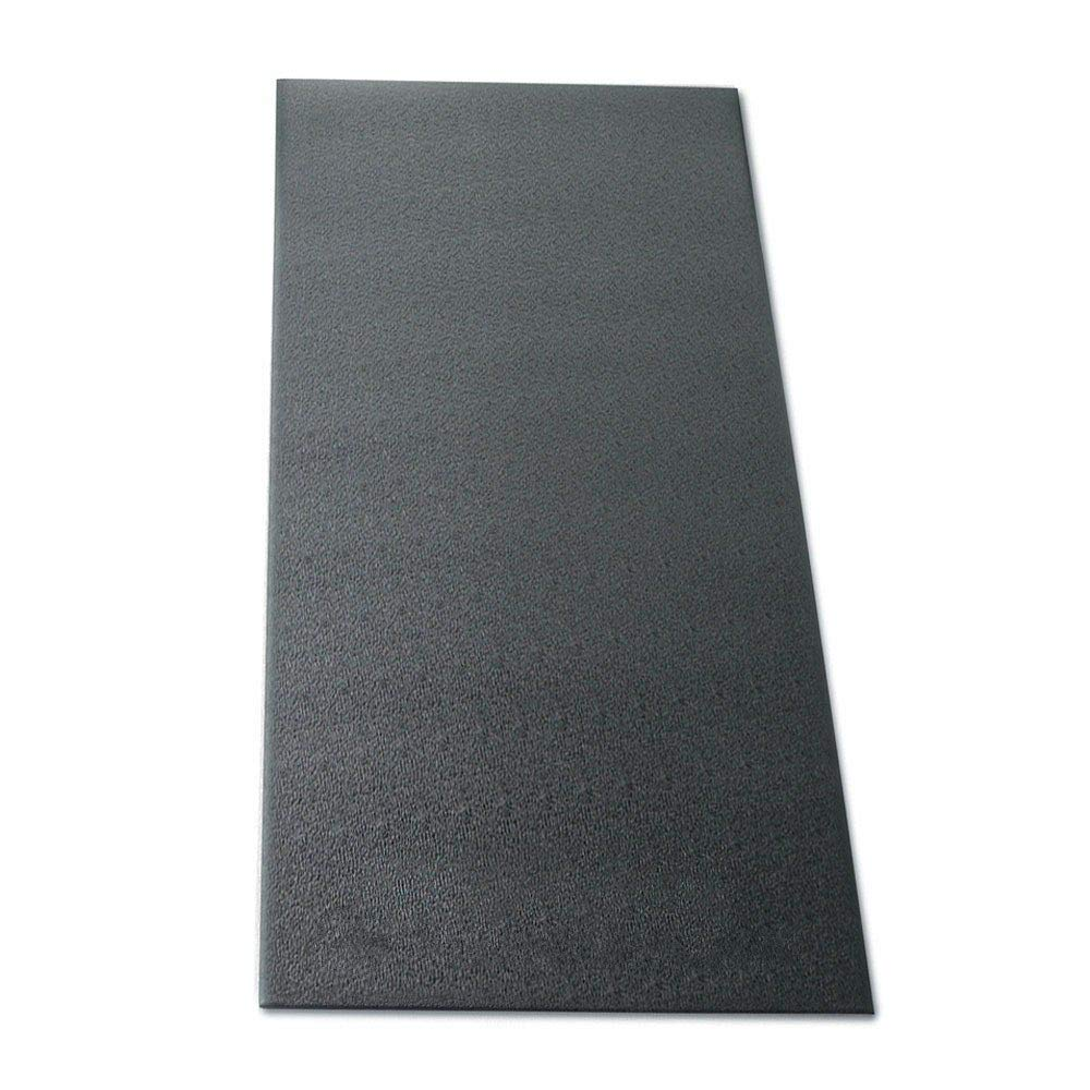 MRT SUPPLY 48 x 36 Inch Workout Equipment Protective Soft Floor Mat, Black with Ebook