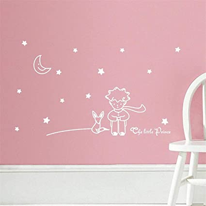 Amazon.com: Chitop Popular Book Fairy Tale - The Little Prince with Fox Moon Star - Home Decor Wall Sticker for Kids Rooms Baby Child Birthday Gift Toy ...