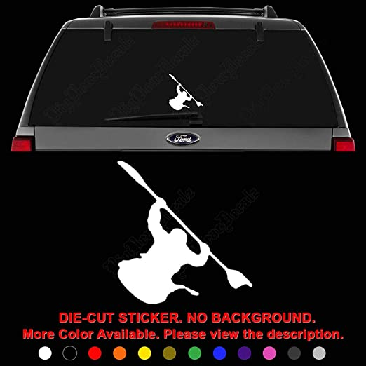 Kayak Decal for Window//Car//Truck ***Available in 20 Colors***