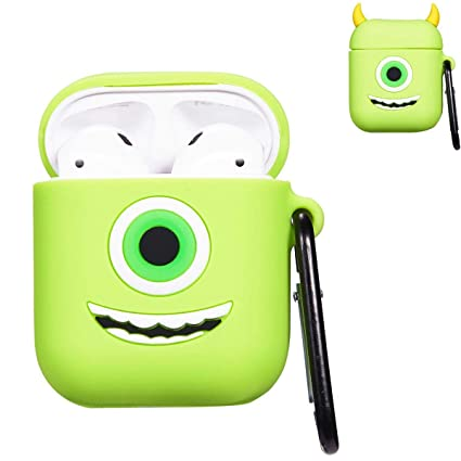 the best attitude 36b28 19526 Punswan One Eye Monster Airpod Case for Apple Airpods 1&2,Cute 3D Funny  Cartoon Character Soft Silicone Catalyst Cover,Kawaii Fun Cool Keychain  Design ...