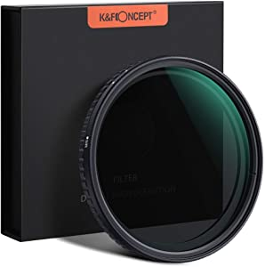 K&F Concept 67mm Fader ND Filter Neutral Density Variable Filter ND2 to ND32 for Camera Lens NO X Spot,Nanotec,Ultra-Slim,Weather-Sealed