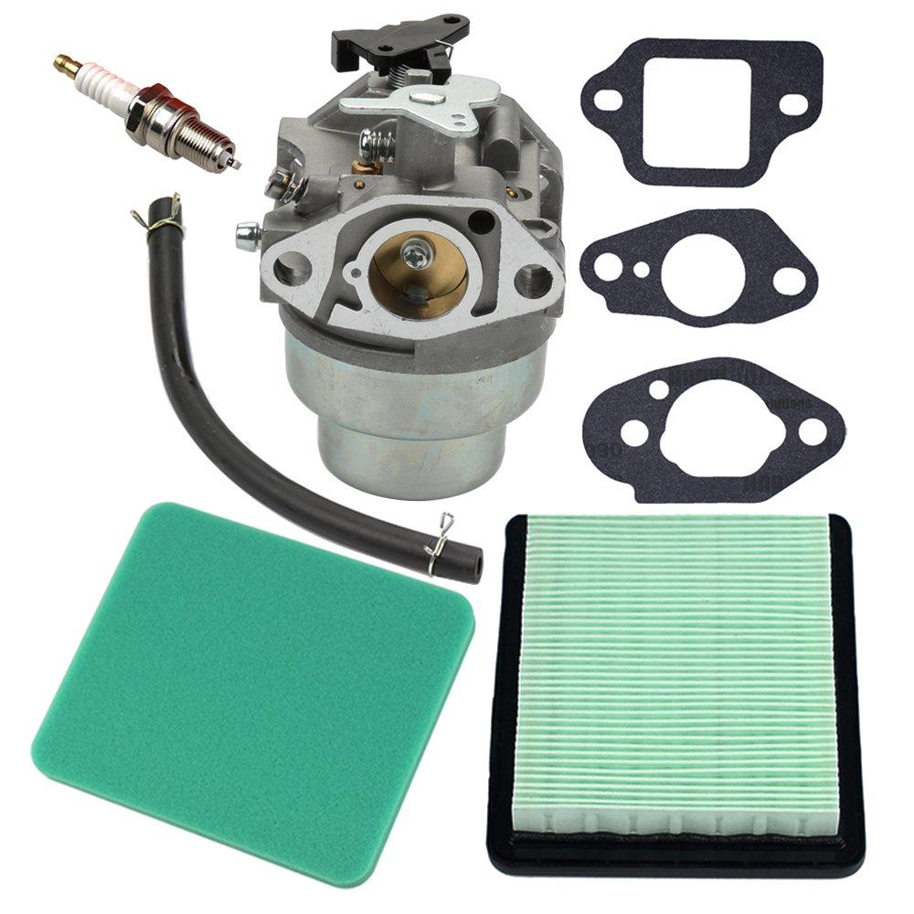 Panari Carburetor + Gasket + Air Filter Spark Plug for Honda GCV160 Engine HRB216 HRR216 HRS216 HRT216 HRZ216 Lawn Mower by Panari