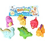 Bath Toys - Set of 6 Dinosaur Squirters by Jump Toys® - Bath Time Fun for Baby & Toddler