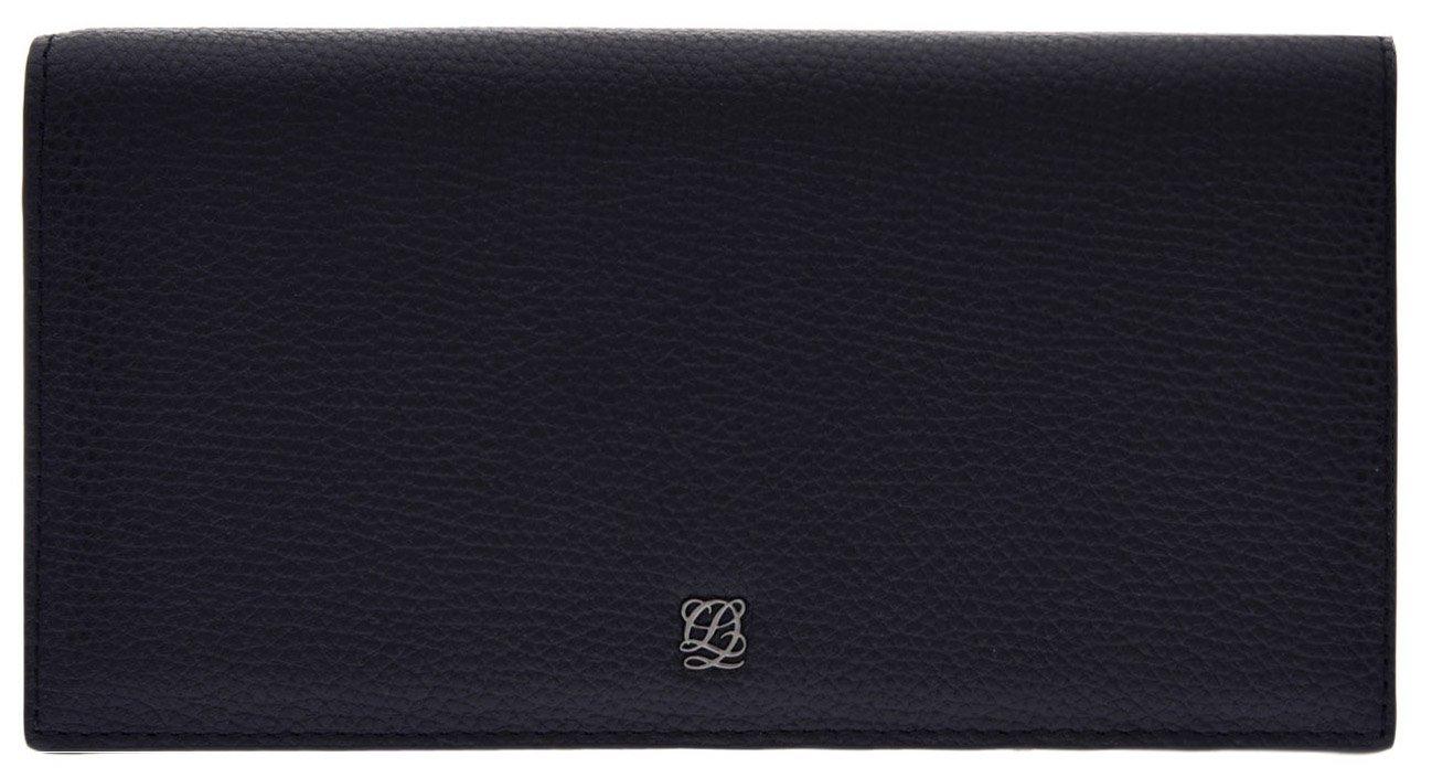 LOUIS QUATORZE Cow Leather Cell Phone Wallet SL1AL80BL One Size Black