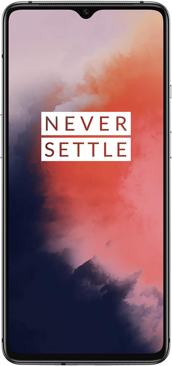 OnePlus 7T HD1907, 128GB GSM 4G LTE Factory Unlocked for AT&T T-Mobile, Triple Cameras (48MP + 16MP + 12MP), Single Sim, US Model (Frosted Silver)