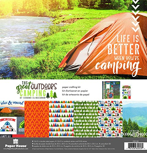 Paper House Productions KTSP-1062E Outdoors Camping Paper Crafting Kit, 1-Pack, None ()