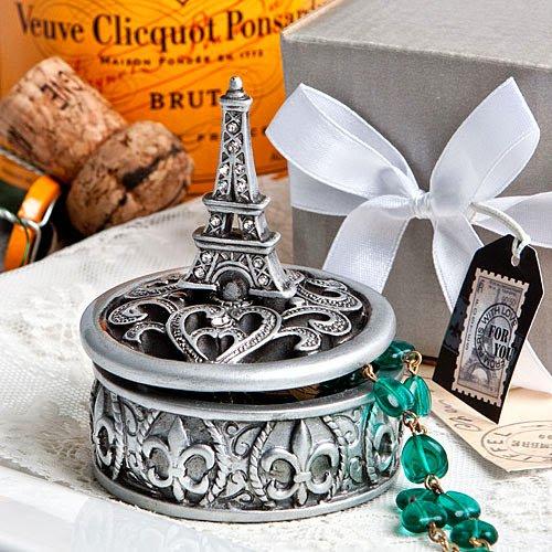 (20 Eiffel Tower Design Curio Box Favors)