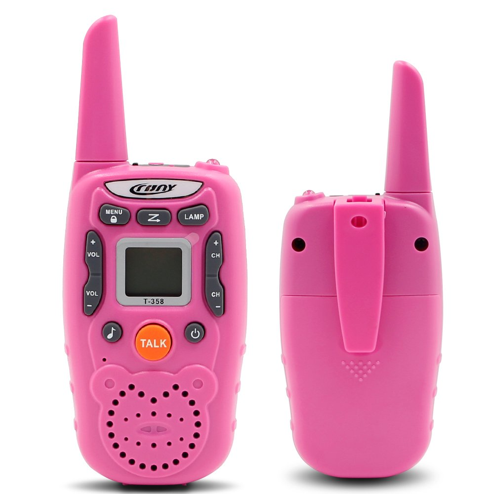 ENGPOW Walkie Talkies for Kids 22 Channels Two Way Radio 2 Mile Range Mini Walkie Talkies with Flashlight and LCD Screen Gifts for Kids (Pink, 2PCS) by ENGPOW (Image #4)
