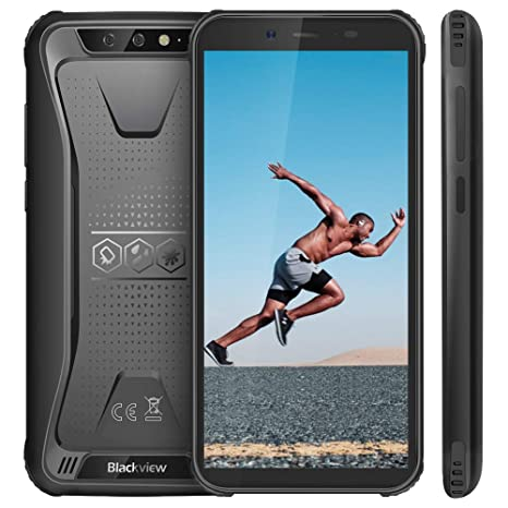 """Blackview BV5500 (2019) Rugged Smartphone, Mobile Phone Android 8 1 Oreo  with 2GB RAM and 16GB storage, 5 5""""HD+, 8MP + 5MP Dual Rear Cameras with"""