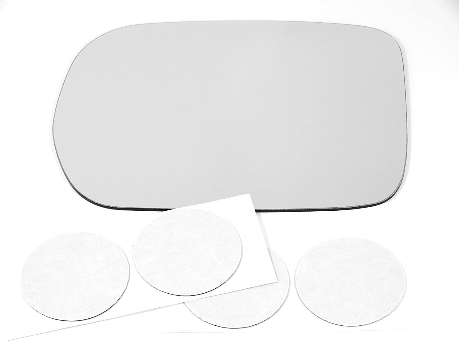 USA Comes with Adhesive Pads VAM Fits 03-08 Honda Pilot Left Driver Side Mirror Glass Lens w//o Backing Plate
