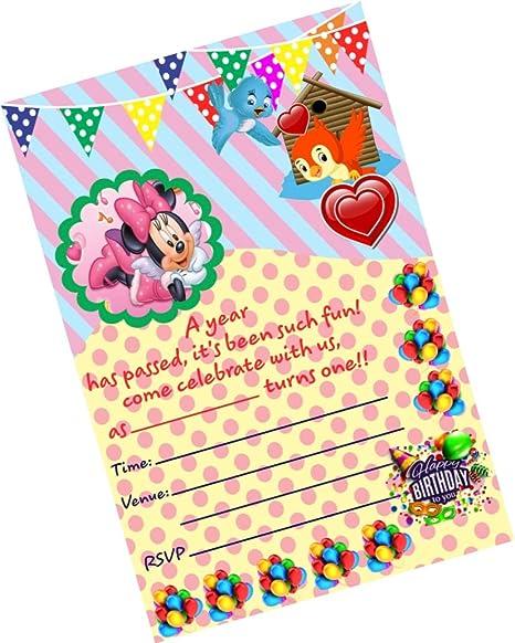 Partystuff Cartoon Theme Cards Cartoon 1st Birthday Invitation Card 2 Invitation 16 Cards