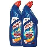 Harpic Powerplus Disinfectant Toilet Cleaner, Orange - 1 L (Pack of 2)