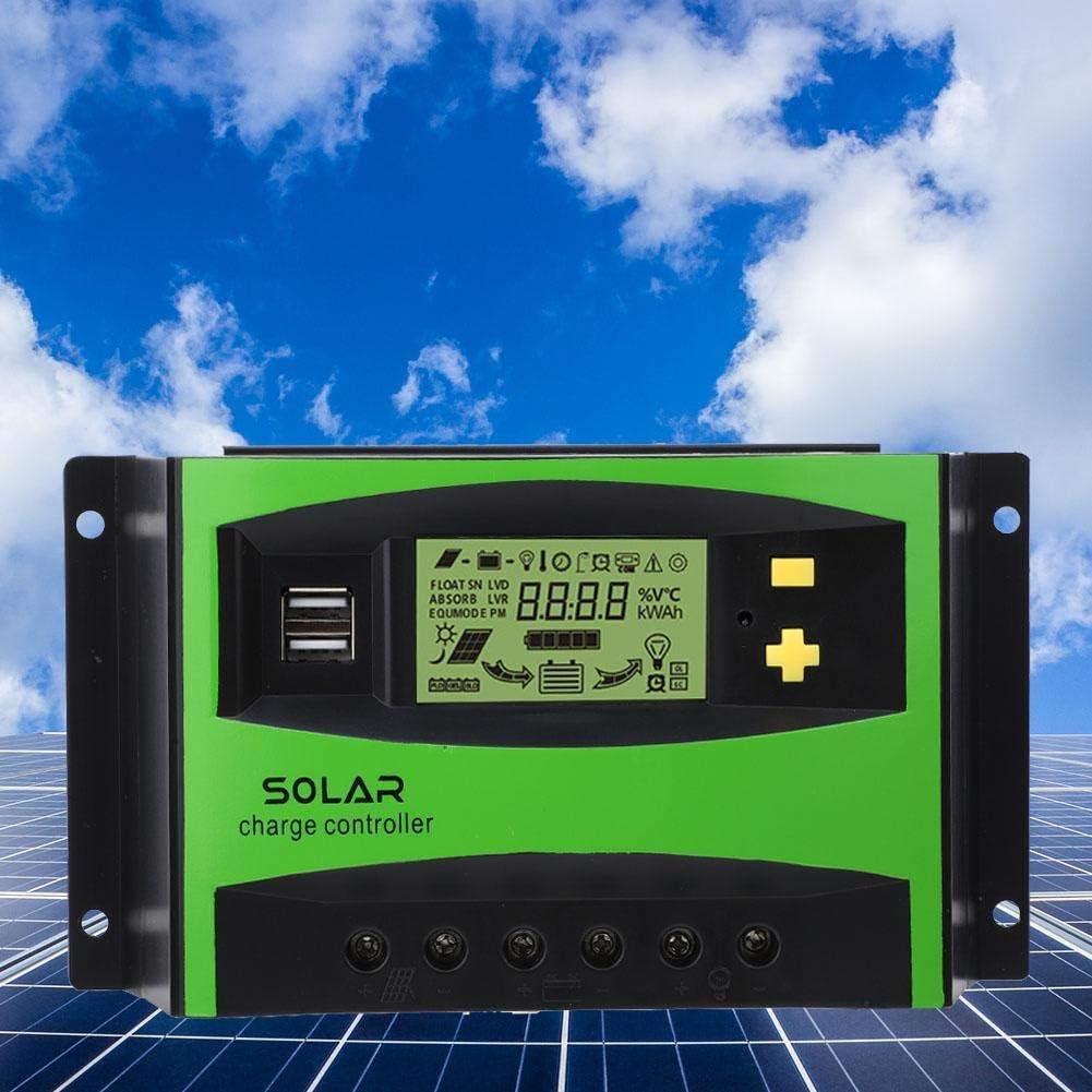 Contr/ôleur de Charge Solaire R/égulateur de Charge de Panneau Solaire 40A 12V//24V Contr/ôleur de Charge IP32 PWM 28-10AWG