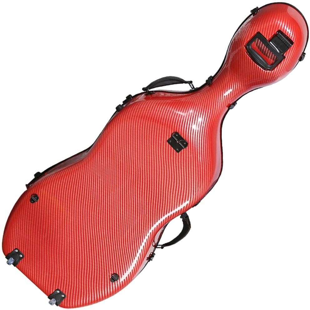 Color : Red1, Size : 1//2 GEQWE Cello Case Light Cello Case Carbon Fiber Cello Case with Wheels Musical Instrument Accessories Easy to Carry