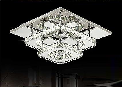 Plafoniera Led Quadrata 48w : Lampadario di cristallo a led quadrato per corridoio