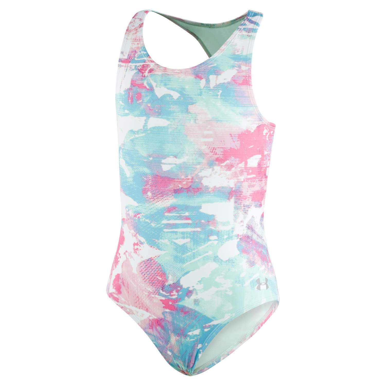Under Armour Big Girls' One Piece Swimsuit, Crystal-S19, 8