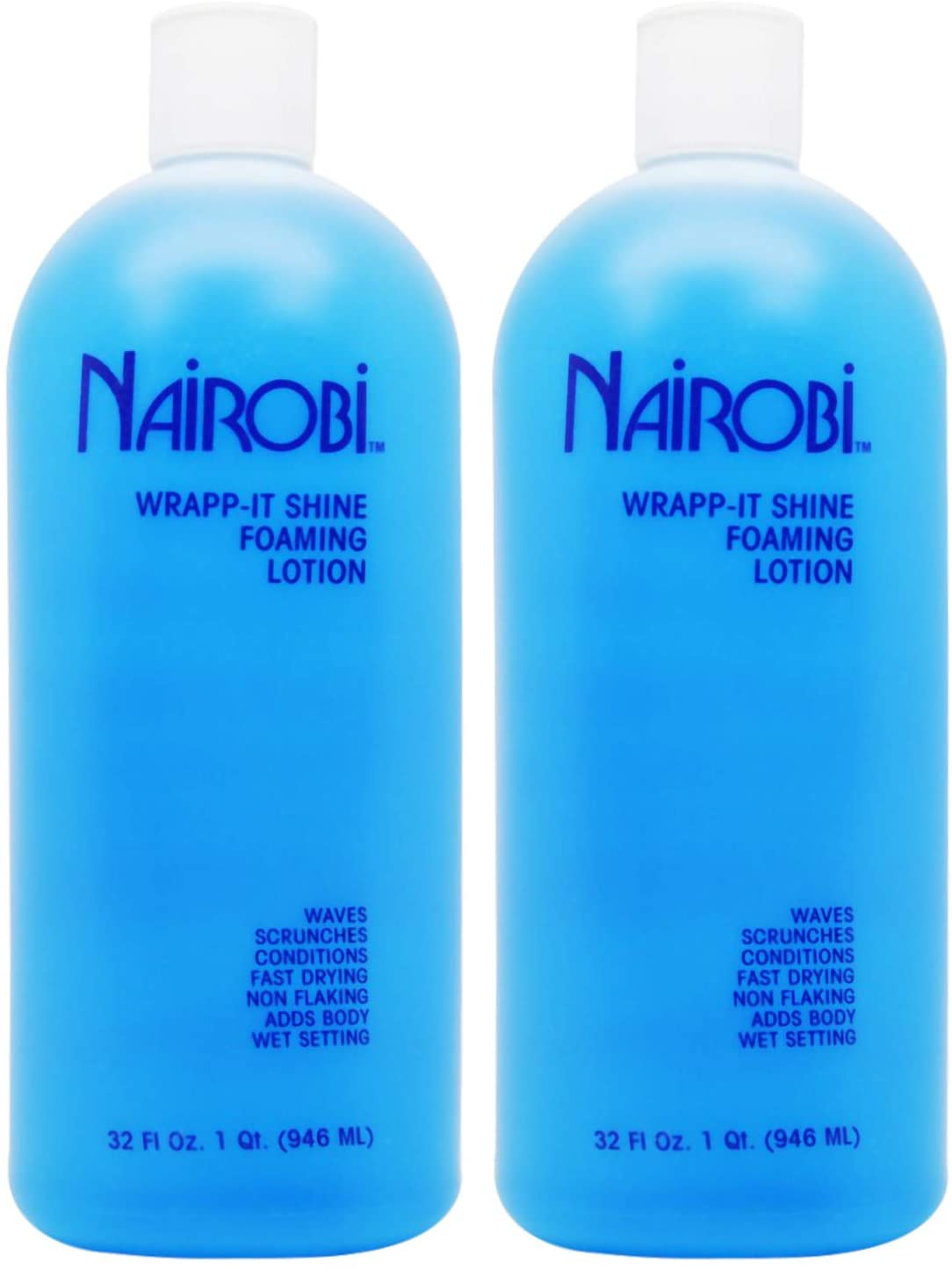 Amazon Com Nairobi Wrapp It Shine Foaming Lotion 32oz Pack Of 2 Health Personal Care