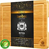 Bamboo Cutting Board w/Juice Groove & Handles - Butcher Block for Chopping Meat & Vegetables - Kitchen Cutting Boards, 10x15
