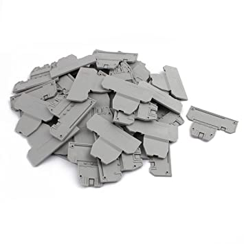 Amazon com: uxcell 50Pcs DIN Rail Terminal Block End Plate