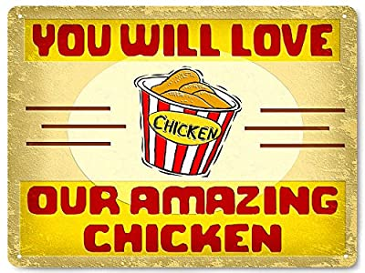 KFC restaurant fried chicken Metal sign / food deli store vintage style wall decor 241