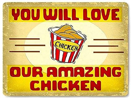Amazon.com: KFC restaurant fried chicken Metal sign / food deli ...