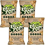 Ka-Pop! Popped Chips, Rosemary Garlic (3.25oz, Pack of 4) - Allergen Friendly, Ancient Grains, Gluten-Free, Paleo, Non-GMO, Vegan, Healthy, Whole Grain Snacks