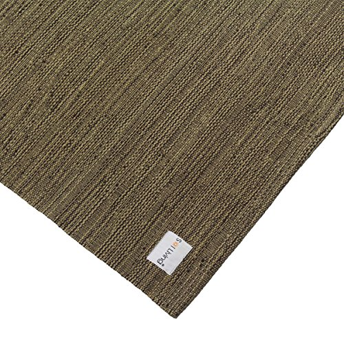 Sol Living Cotton Yoga Mat Organic Cotton Yoga Mat Non-Slip Odor Free Yoga Rug Eco-Friendly Multi-Purpose Yoga Equipment Fitness Mat Mediation Pad 24 x 72 Brown