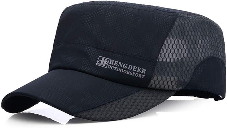 Breathable Mesh Flat Cap Summer Baseball Cap Men Flat Snapback Caps for Men Dad Hat Vintage Bone
