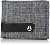 Nixon Men's Showout Bi-fold Snap Coin Wallet, Black Wash, One Size