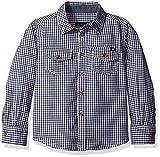 Lucky Brand Little Boys' Deer Lake Micro Gingham Sport Shirt, Black Iris, 6