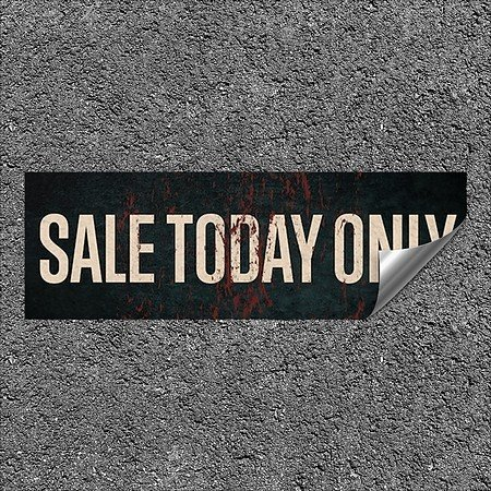 CGSignLab |''Sale Today Only -Ghost Aged Rust'' Heavy-Duty Industrial Self-Adhesive Aluminum Wall Decal | 36''x12''
