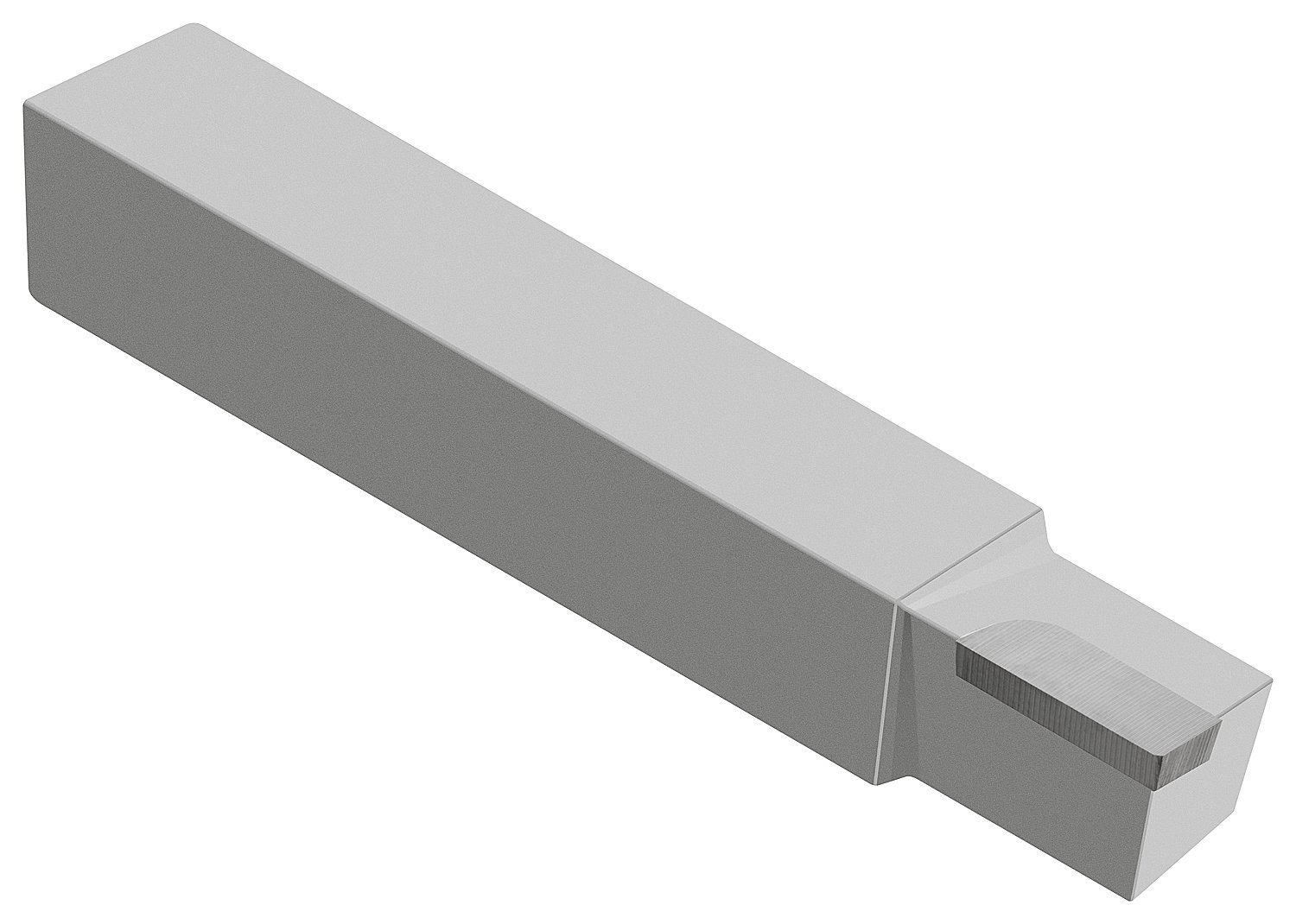 Micro 100 AL-6 Brazed Tool, Left Hand Square Shank Diameter''Style A'', 2.500'' Length, 3/8'' Width, 3/8'' Height, Tip Dimension of 1/8'' Thick, 1/4'' Width, 3/8'' Length, 1/64'' Radius