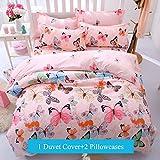 Best Designs With Butterflies - Ttmall 3-pieces Full Queen Size Microfiber Duvet Cover Review