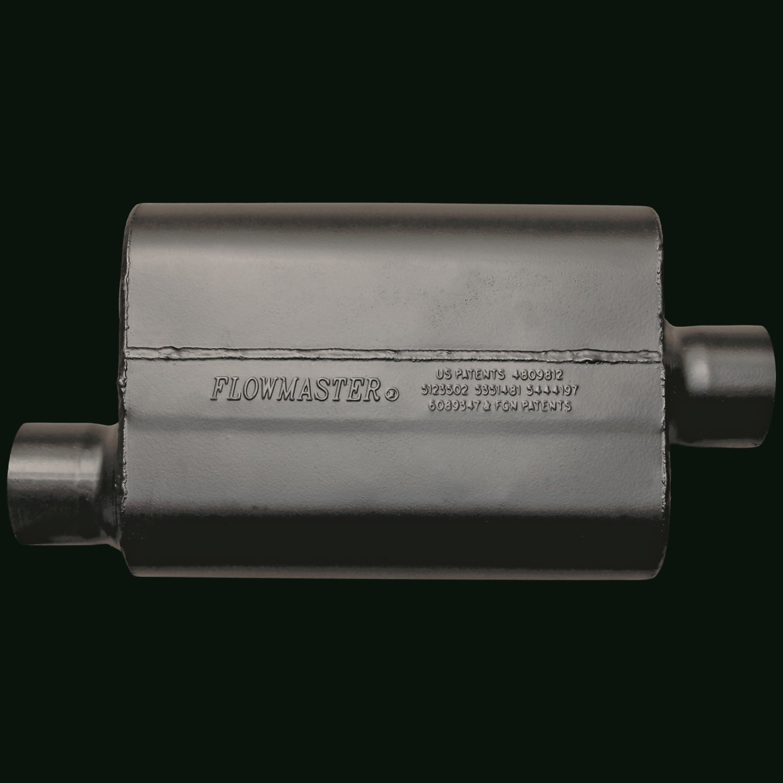2.50 Offset IN Aggressive Sound 2.50 Center OUT Flowmaster 942546 Super 44 Muffler