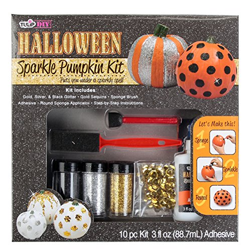 Tulip Diy Halloween Sparkle Pumkin Kit, Assorted