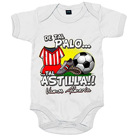 Body bebé De tal palo tal astilla Almería fútbol - Blanco, 6 ...