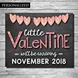 Valentines Pregnancy Announcement Chalkboard Poster Sign by Katie Doodle (8x10)