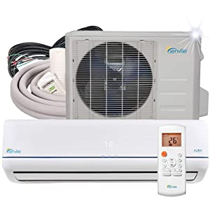 Senville 18000 BTU SENA-18HF/Z Energy Star Mini Split Air Conditioner Heat Pump, White