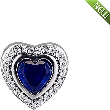 ciondoli pandora charm cuore blu scintillante