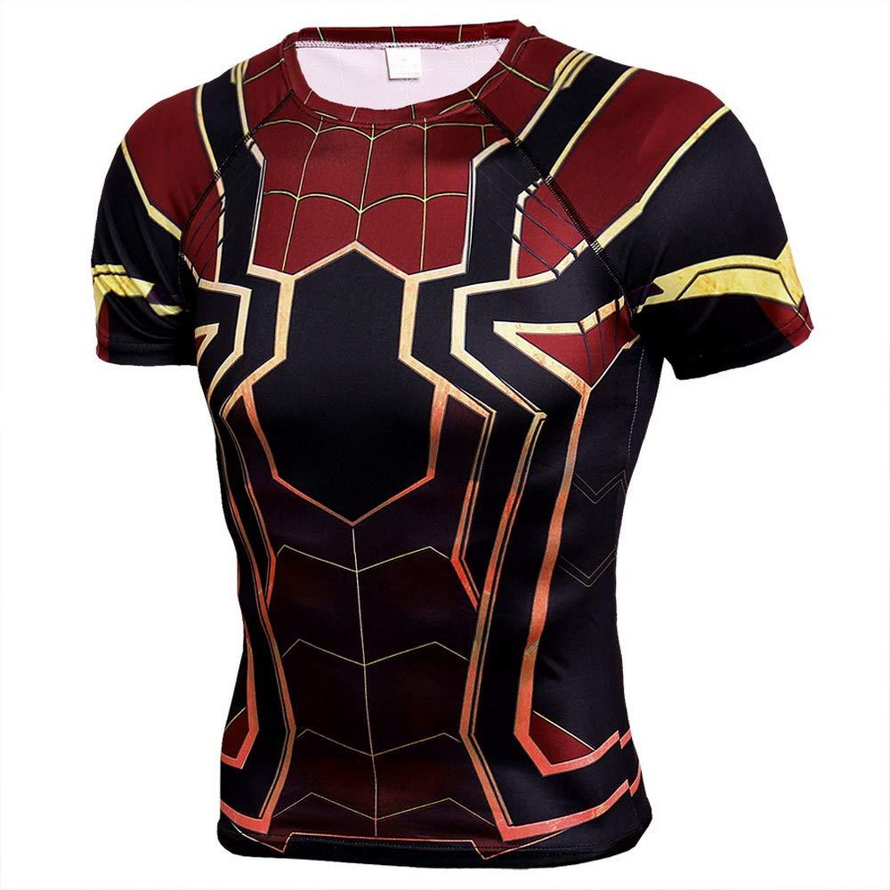 HOOLAZA Avengers Super Heroes Men Short Sleeve Compression T-Shirt Fitness Tops